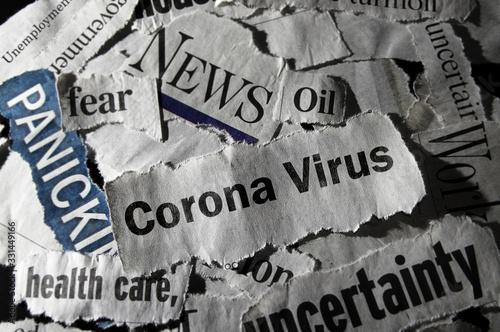 Conona Virus news headlines Canvas Print