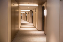 Long Corridor In A Hotel