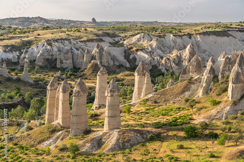 Love valley in summer season, Goreme town in Cappadocia, central Anatolia, Turke Wallpaper Mural
