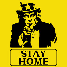 Uncle Sam Figure On A Yellow B...