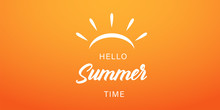 Summer Time Vector Banner Or P...