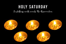 Holy Saturday Concept With Chr...