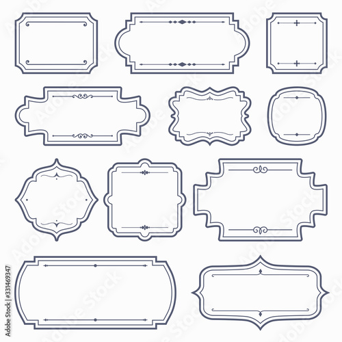 Vintage Label Frame Vector Set Wallpaper Mural