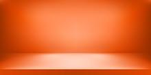 Empty Orange Color Studio. Roo...