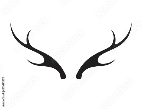 Photo Deer antler ilustration logo vector template