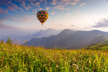 Hot Air Balloon Flying Over Ph...