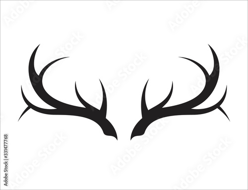 Deer antler ilustration logo vector template Wallpaper Mural