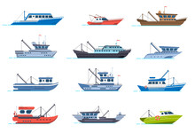 Fisherman Boats. Fishing Comme...