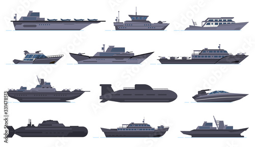 Leinwand Poster Military ships