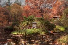 Japanese Garden. A Gazebo On A...
