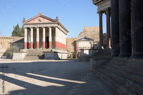 Fotomural Cinecitta studio filming sets in Rome, Italy