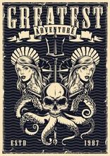 Nautical Monochrome Vintage Poster
