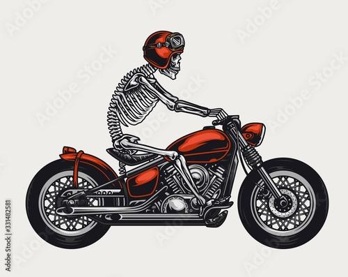 Foto Colorful motorcycle vintage concept