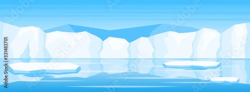 Fototapeta winter arctic ice landscape