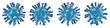 Leinwandbild Motiv Virus isolé sur fond blanc - Virologie et Microbiologie 3D - Coronavirus COVID-19 concept