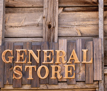 Wooden General Store Sign Agai...