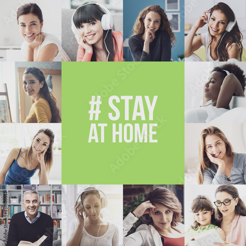 Photo Stay at home social media awareness campaign for coronavirus prevention