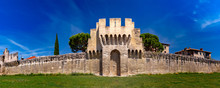 Panorama Of Medieval City Wall...