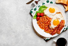 Fried Eggs, Crispy Bacon, Bean...