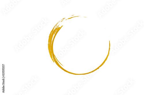 Gold glittering circle of paint golden glitter texture Fotobehang
