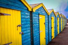 Seaside Beach Huts In England