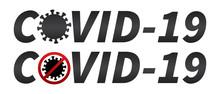Covid-19 Word Symbol Icon Isol...