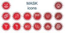 Editable 14 Mask Icons For Web...