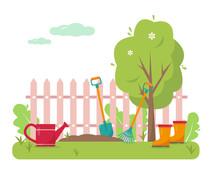 Gardening Concept Design Vecto...