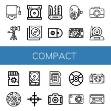 Compact Simple Icons Set