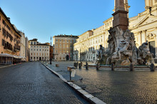 Piazza Navona Empty In The Ear...