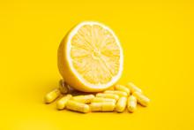 Vitamin Capsules. Vitamin C Pi...