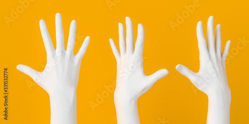 Fotografia, Obraz Raised grabbing hand, five count gesture