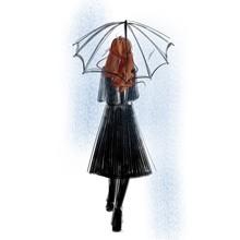 Illustration Of A Woman Walkin...