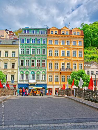 Promenade and historical street Karlovy Vary Wallpaper Mural