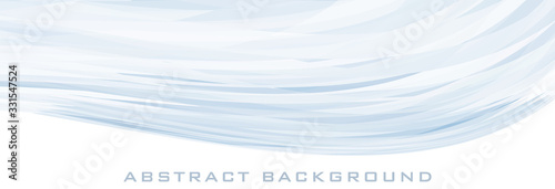 Fotografie, Obraz Light background with pale blue wave. Vector graphics