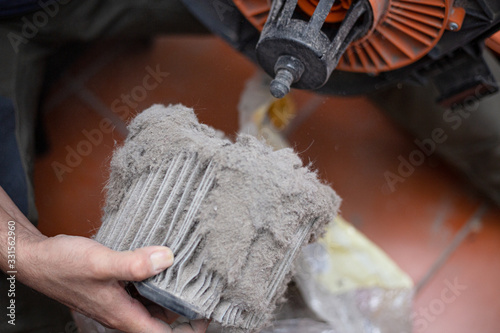 Cambio de filtro por polvo acumulado en aspiradora Canvas Print