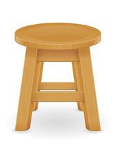 Wooden Stool Furniture Vector ...