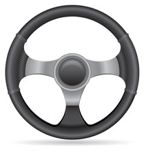 Car Steering Wheel Vector Illu...
