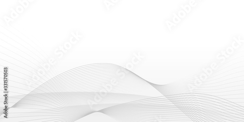 Obraz White Curve Line Abstract Background with minimalist concept - fototapety do salonu