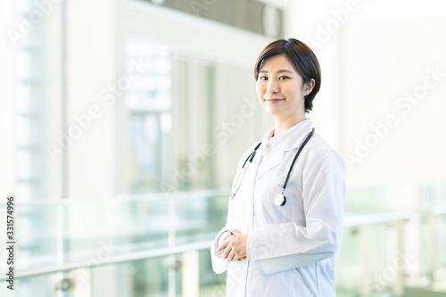 女性医師 Fototapet