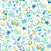 Seamless Pattern Of Hand Made ...