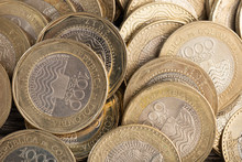 Pile Of Colombian Peso Coins, ...