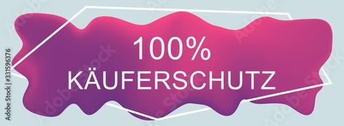 Käuferschutz web Sticker Button