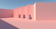 Artistic Pink Place 3d Image