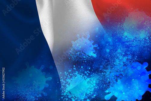 フランス コロナ ウイルス 撃退  Canvas Print