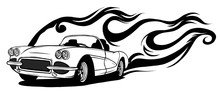 Fiery Retro Sports Car Design ...