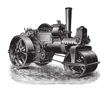 Old Steam Roller / Vintage Ill...