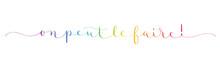 Bannière Calligraphique Vecteur Arc-en-ciel ON PEUT LE FAIRE!