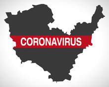 Lisburn And Castlereagh NORTHERN IRELAND District Map With Coronavirus Warning