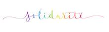 Bannière Calligraphique Vecteur SOLIDARITE
